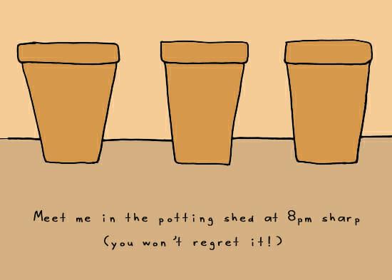 Potting Shed doodle by Andre Jordan