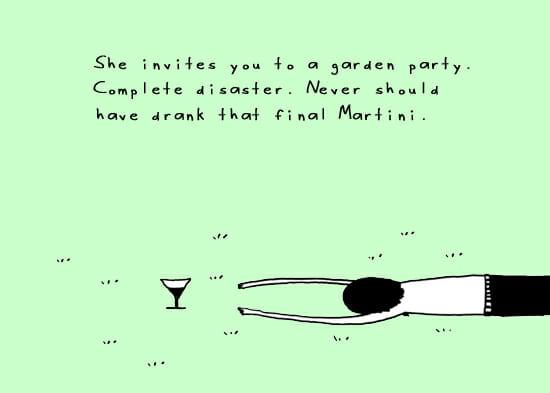 garden cartoon on garden party