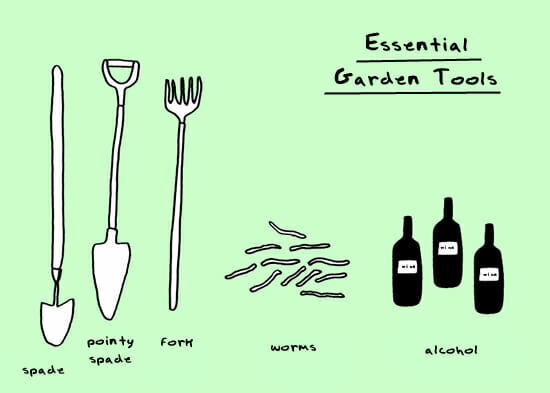 Doodle by andre must garden gear a way to garden for Essential gardening tools