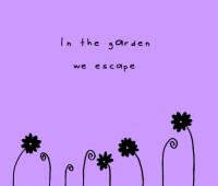 garden cartoon on escaping to outdoors