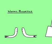 garden cartoon on earthworms