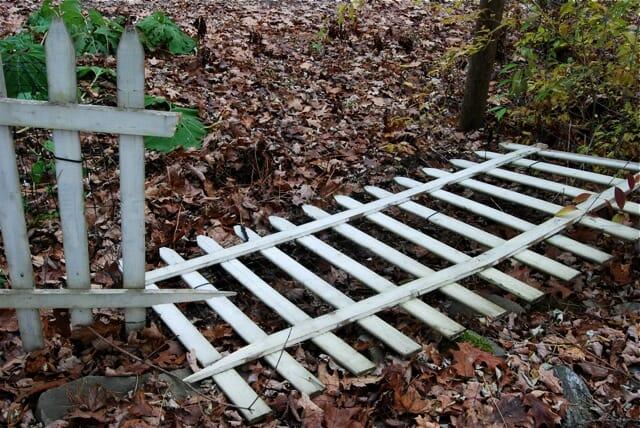 battered fence