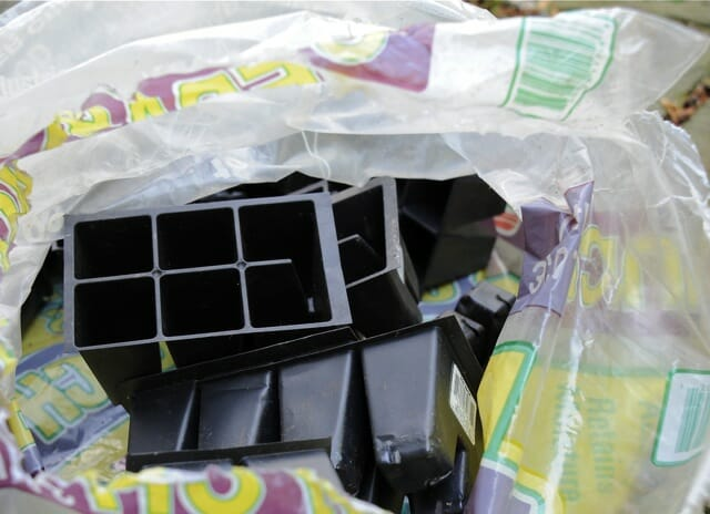 recycled plastic for pot bottom
