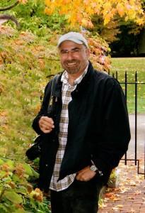 Ken Druse on a photo shoot