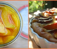 how to freeze peaches, and a peachy clafoutis