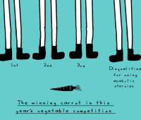 doodle by andre: vegetable-doping scandal