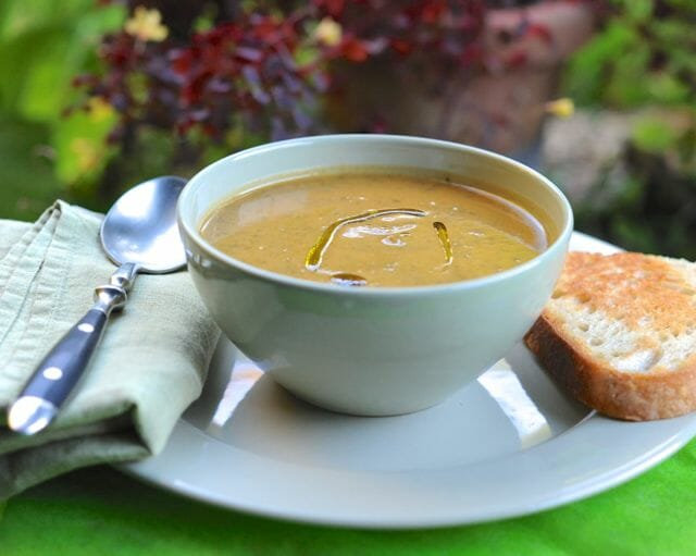 Anna Thomas's greens and sweet potato soup with sage