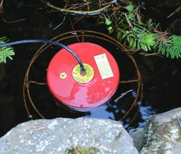 floating pond heater