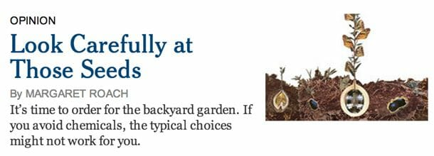 Margaret Roach in New York Times on seeds