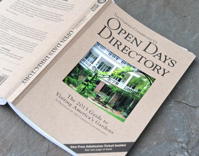 Garden Conservancy 2013 Open Days directory