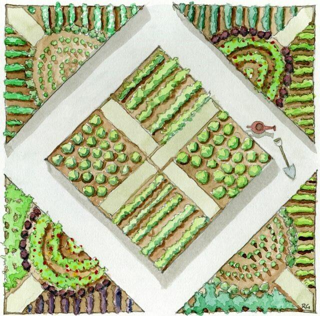 Salad lover's garden plan from Ellen Ecker Ogden