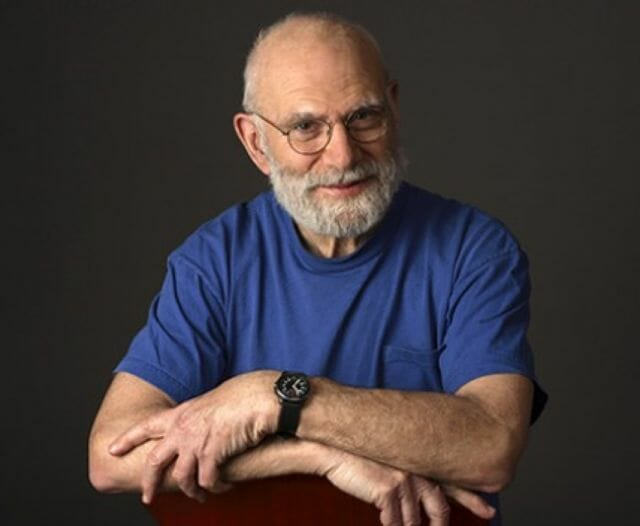 Oliver Sacks portrait, from oliversacks.com