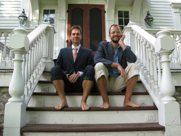 Josh Kilmer-Purcell and Brent Ridge, the Beekman Boys