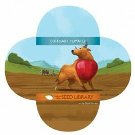 'Upstate Oxheart' tomato packet from Seed Library