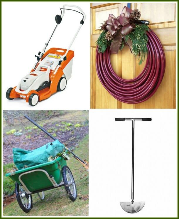 Stihl battery mower, Water Right hose, Smart Cart, Sneeboer stainless edger