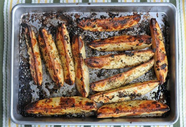 roasted oregano-lemon potato wedges