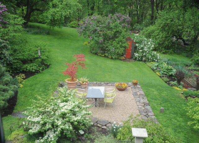 west view of Margaret Roach garden