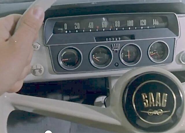 Saab 96 dashboard