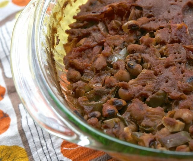 spicy bbq black-eyed peas