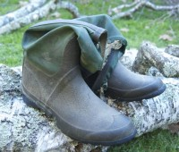 old garden boots