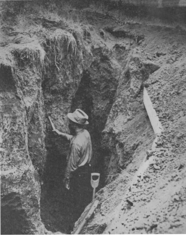 from UNL Digital Commons Weaver in trench