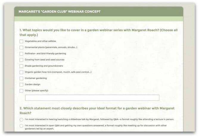 need your input my idea for virtual garden club events